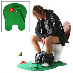 ONcemoRE Potty Putter Toilet Putting Mat Golf Game for Bathr