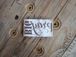 Pray Big wooden sign. Great gifts under 10. Rustic home deco