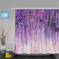 Art Printing Decor Collection Spring Landscape Purple Floral