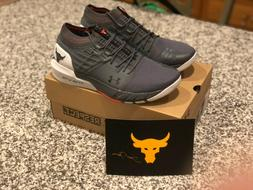 Under Armour Project Rock 2 Mens Training Shoes Grey UA HOVR