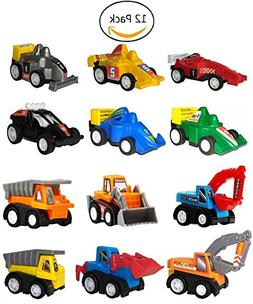 WINONE Pull Back Cars, Toys for 3 4-5 Year Old Boys, 12 Pack