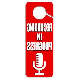Graphics and More Recording in Progress Microphone Plastic D