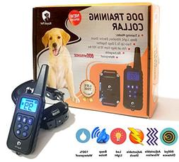 Remote Dog Training Collar - 2400 ft Range, Dog Shock Collar