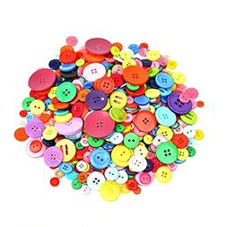 Dshengoo 700 Pieces Resin Buttons Assorted Colors and Shapes