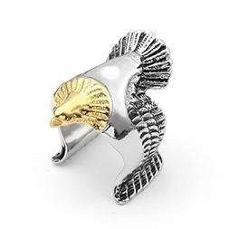 Ring Sterling Silver,Womens Punk Eagle-Diamond -Zirconia Rin