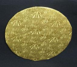 "Round Gold Foil Cake Fold-under Board, 1/2"" Thick - PACK of"