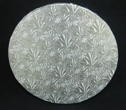 "Round Silver Cake Fold-Under Board, 1/2"" Thick - PACK of 6"