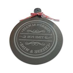Slate Cheese Board: Slick Serving Tray with Handle. Engraved