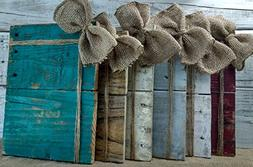 Rustic Burlap, Twine and Pallet Board Frame