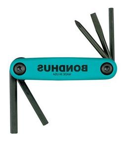 Set 5 Utility Fold-up Tools #1 Phillips, 3/16 Slotted, 4mm H