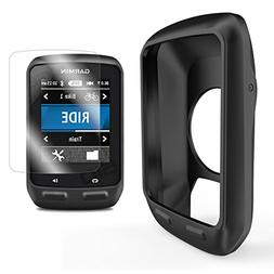 TUSITA Silicone Case Cover + Screen Protector For Garmin Edg