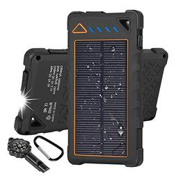 Hobest Solar Charger 10000mAh,Water-resistant Outdoor Solar