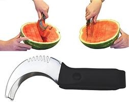 Stainless Steel Watermelon Slicer Corer Cutter Server Tongs