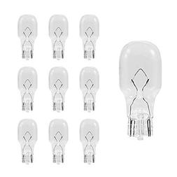 10-Pack T5-12V-4W, T5 Wedge Base Replacement Bulb, 12 Volt