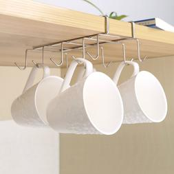 tainless Steel Hanger Hooks Cupboard Coffee Cup Holder Drain