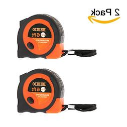 2 Pack Tape Measure 6FT/2M By HEIKIO, Metric and Inch Scale,