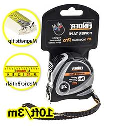 Finder 10ft Tape Measure inch/cm Metric,Inches and Sturdy Re