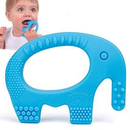 Baby Teething Toys - Adorable Blue Silicone Elephant Teether