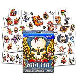 American Traditional Temporary Tattoos Set Kids Adults -- 50
