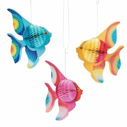 "Fun Express - 10"" Tissue TROPICAL FISH Decorations"