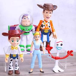 Toy Story 4 Woody Jessie Buzz Lightyear Forky BoPeep Action