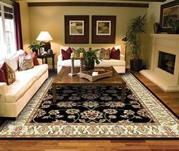 Traditional Area Rugs 2x3 Door Mat Indoor Black Small Rugs f