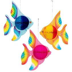12PCS Tropical Fish Party Decorations - Kids Birthday/Under-