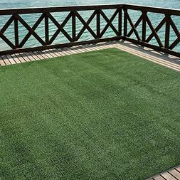 iCustomRug Outdoor Turf Rug in Green Artificial Grass In 6'