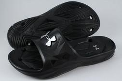 UNDER ARMOUR UA LOCKER III SLIDE BLACK/SILVER WATERPROOF SHO