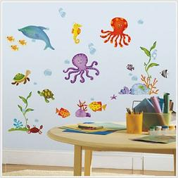 Under the Sea Wall Stickers 60 Decals Ocean Beach Shell Turt