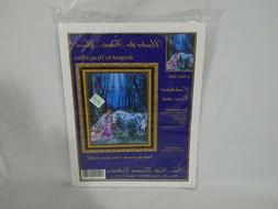 under the faerie moon embellished cross stitch