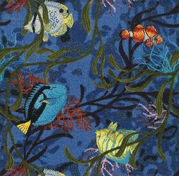 Under The Sea Pattern Indoor 26 oz Stainmaster Nylon Cut Pil