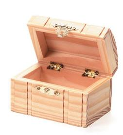 Darice 9177-70 Unfinished Wooden Box with Hinged Curved Top