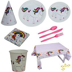 Unicorn Birthday Party Supplies Pack for 10 guests, includes