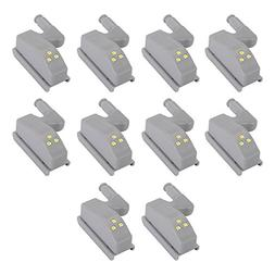 XCSOURCE 10pcs Universal Cabinet Cupboard Hinge LED Light In
