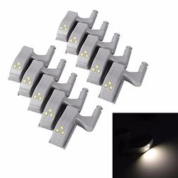 10pcs Universal Cabinet Hinge LED Light Cupboard Closet Ward