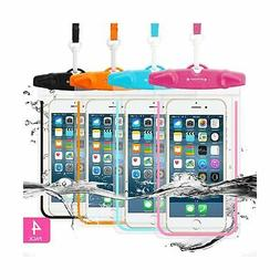 4 Pack Universal Waterproof Case FITFORT Cell Phone Dry Bag/