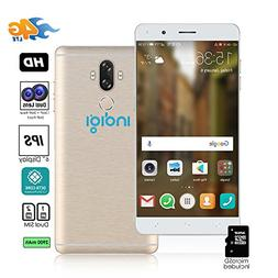 """Indigi Unlocked 4G LTE 6"""" Android 7 Smartphone 8 Core 1.3 GH"""