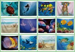10 pieces room decor under water fish sealife wall hanging t