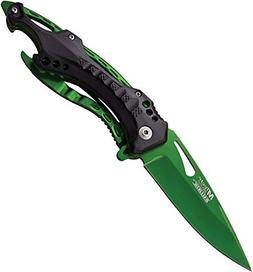MTech USA Green Blade Hunting Camping Tactical Rescue Pocket