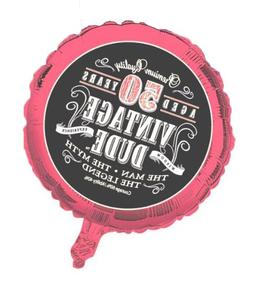 Creative Converting Vintage Dude 50th Birthday 2-Sided Round