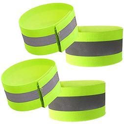 Attmu High Visibility Reflective Wristbands/Belt/Armbands ,