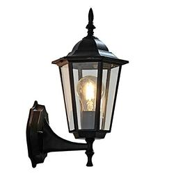 ZHMA Outdoor Wall Lamp,Retro Garden Porch Lights Black Hallw