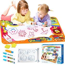 KIZZYEA Water Doodle Mat,Kids Toys Aqua Large Drawing Mat To