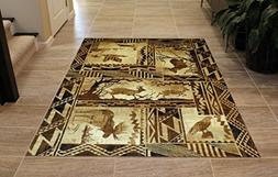 Lodge Western Area Rug Design 384