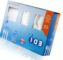 EDI White Disposable Plastic Cutlery Set 210 Count (70 Forks