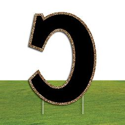 "Big Dot of Happiness Yard Letter C - Black Gold - 15.5"" Lett"