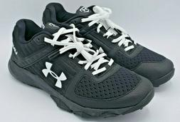 Under Armour Yard Trainer Baseball Shoes Black White 3021935