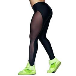 AmyDong Yoga Pants, Women Fashion Mesh Yoga Pants Outdoor Ru